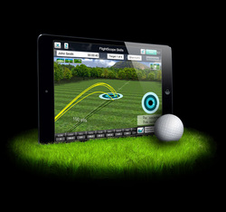 Golf Lessons using the Flightscope monitor - used for swing analysis and proper club fitting by Fairfax golf pro Ben Hogan